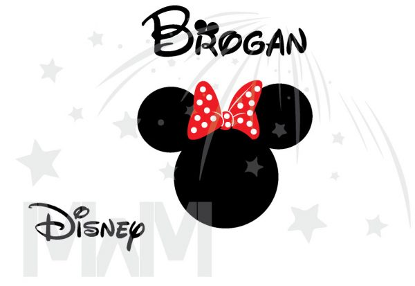 Disney Minnie Mouse Red Polka Dot Cute Bow Or Mickey Mouse Head Shirt With Custom Name married with mickey
