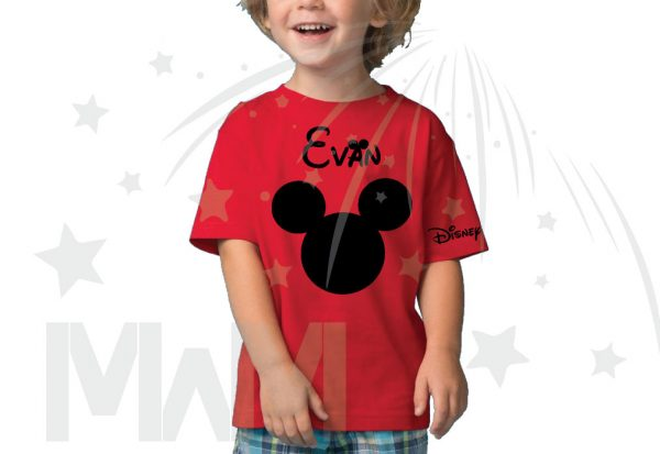 Disney Minnie Mouse Red Polka Dot Cute Bow Or Mickey Mouse Head Shirt With Custom Name married with mickey red tshirt
