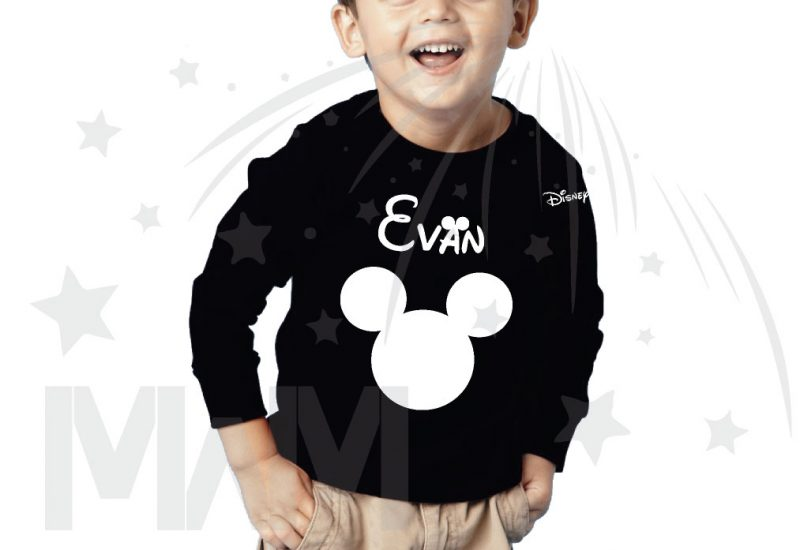 Disney Minnie Mouse Red Polka Dot Cute Bow Or Mickey Mouse Head Shirt With Custom Name married with mickey black sweater