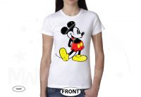 Disney Mickey Mouse Old Style Design T-Shirt, Mens Tank Top, Ladies Racerback Tank, V Neck T-Shirt, Pullover Hoodie, Zip Up Hoody, Crew Neck Sweatshirt married with mickey white tshirt