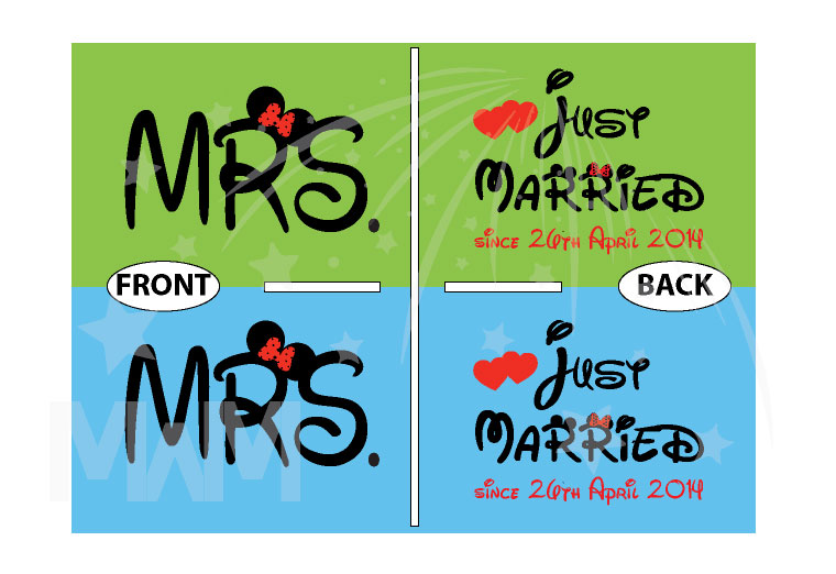 LGBT Lesbians Couple Very Cute Shirts For Mrs Just Married With Wedding Date married with mickey mwm