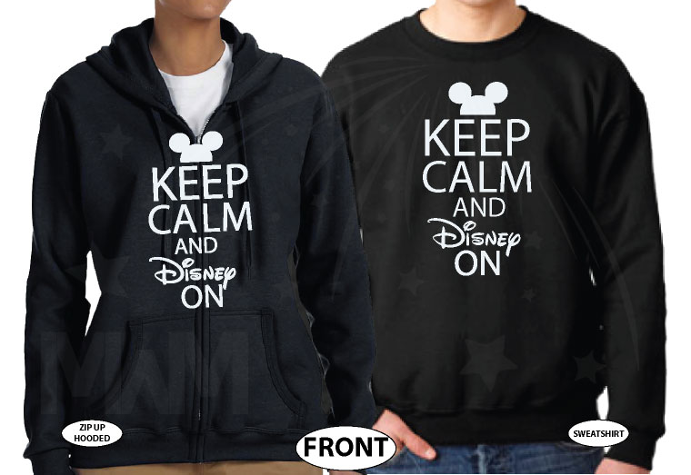 Cute Keep Calm And Disney On married with mickey black sweaters
