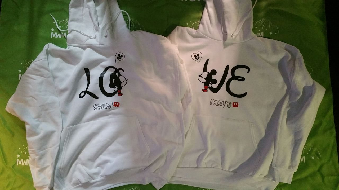 LGBT Gay Love Soul Mate Mr With Custom Name And Special Date married with mickey white hoodies
