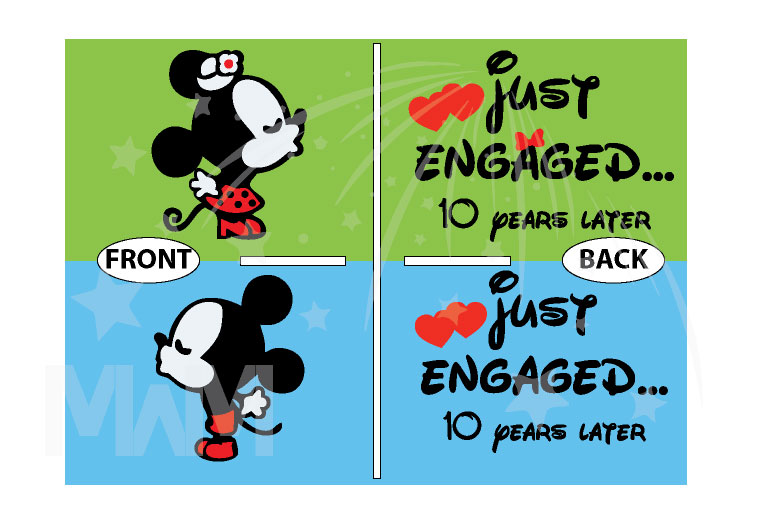 Disney Kissing Mickey Minnie Mouse Just Engaged.. 10 years later married with mickey