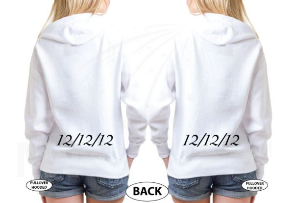 LGBT Lesbian Cute Shirts For Brides With Custom Wedding Date married with mickey white pullovers