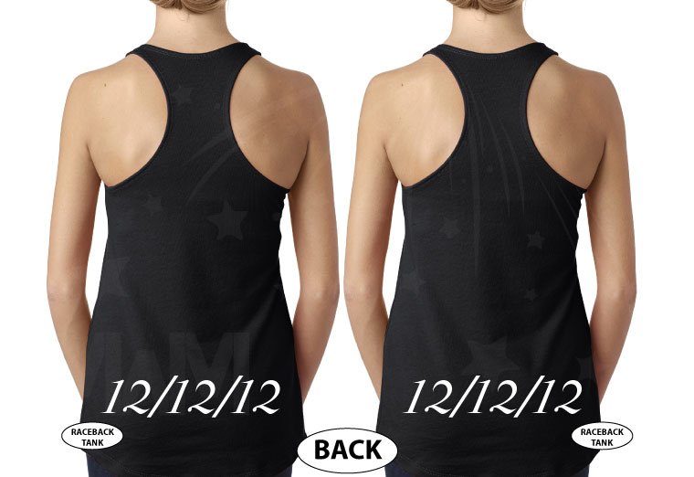 LGBT Lesbian Cute Shirts For Brides With Custom Wedding Date married with mickey black tanks