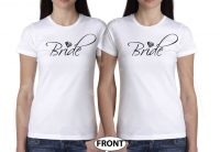 LGBT Lesbian Cute Shirts For Brides With Custom Wedding Date married with mickey white tshirts