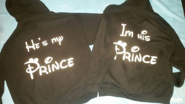 LGBT Gay I'm His Prince He's My Prince Matching Shirts married with mickey mwm black hoodies