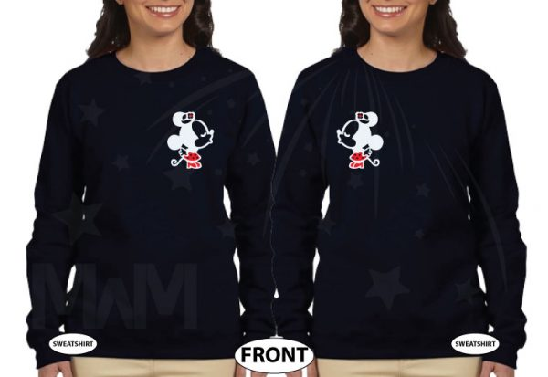 LGBT Lesbian Matching Couple Shirts Soulmate Soul Mate Very Cute Little Kissing Minnie Mouse MWM Married With Mickey married with mickey black sweaters