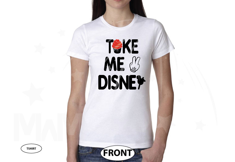Take Me To Disney Shirt, ladies and mens cut any style, Married With Mickey, World's Cutest Apparel white tshirt