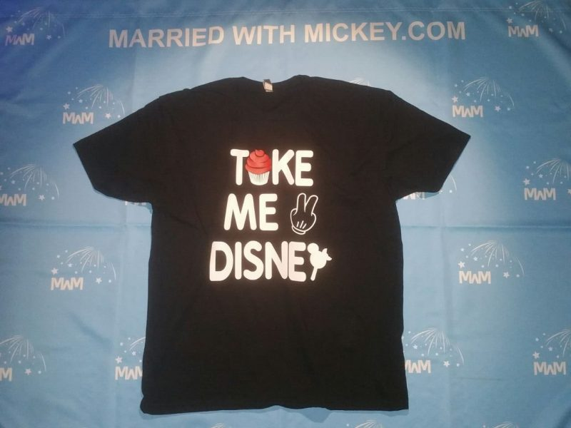 Take Me To Disney married with mickey black shirt
