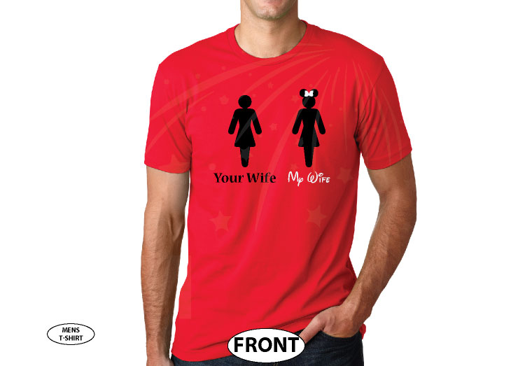 Your Wife My Wife Funny Guy Hubby Shirt married with mickey red tshirt
