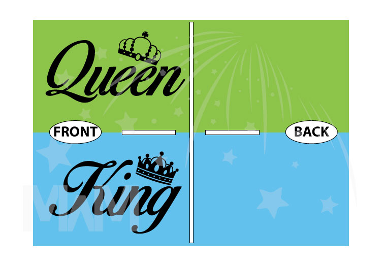King and Queen With Crowns married with mickey
