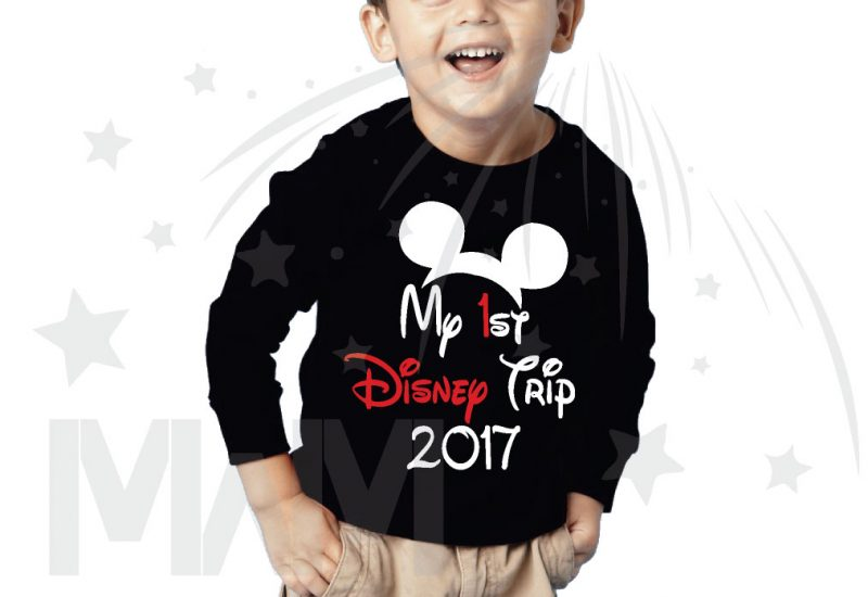 My 1st First Disney Trip 2017 Boy's Toddler Sizes Married With Mickey black sweater