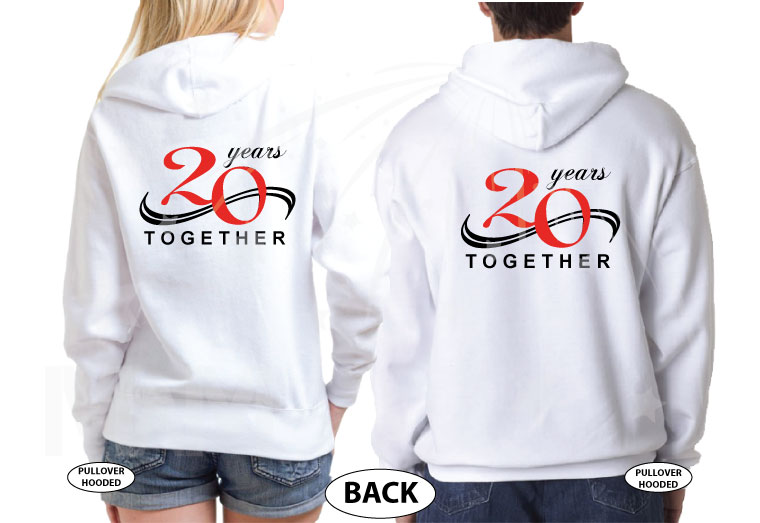 Celebrating 2nd Honeymoon 20 years Together married with mickey white hoodies