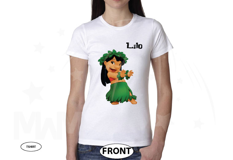 Lilo Family means no one gets left behind or forgotten married with mickey white tshirt
