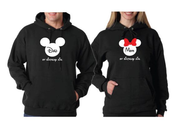 500493Cute Mickey Dad Of Birthday Boy (Girl), Minnie Mouse Mom Of Birthday Boy (Girl) Disney Cinderella Castle Family Vacation 2018 married with mickey black hoodies