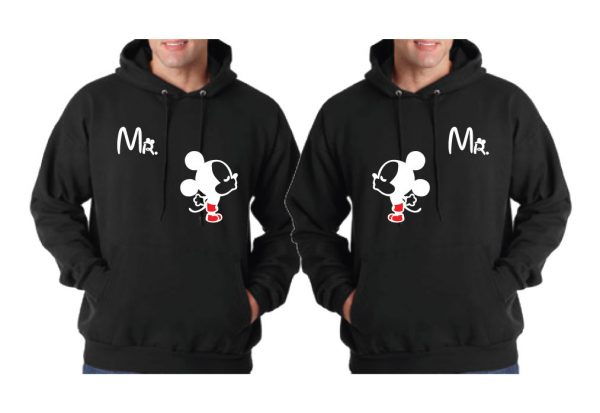 LGBT Gay Matching Shirts Custom ORder, 06 14 numbers on back married with mickey mwm