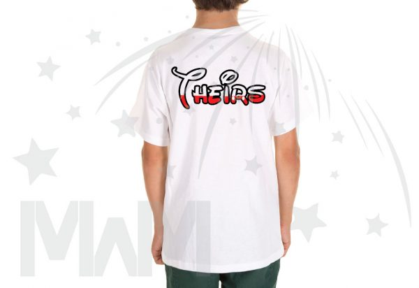 Kids Sizes Disney Font Theirs married with mickey white tshirt