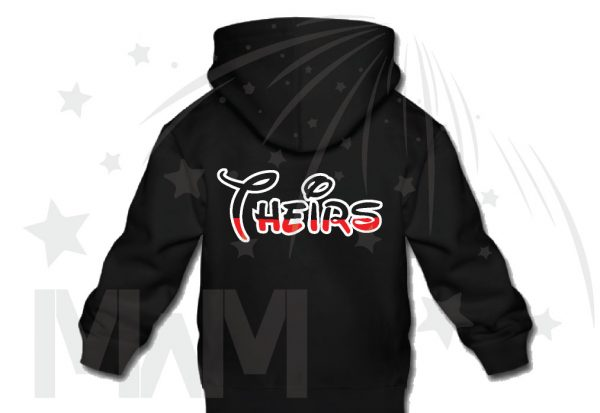 Kids Sizes Disney Font Theirs married with mickey black hoodie