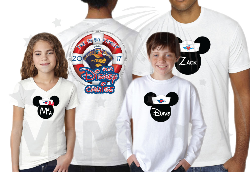 Disney Family Cruise Matching Shirts Mickey Minnie Mouse Heads, Our Disney Cruise, Disney Fantasy married with mickey white tshirt