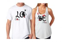Soulmate Love Shirts Mickey Minnie Kiss Just Married Wedding Date married with mickey white tank top and tshirt
