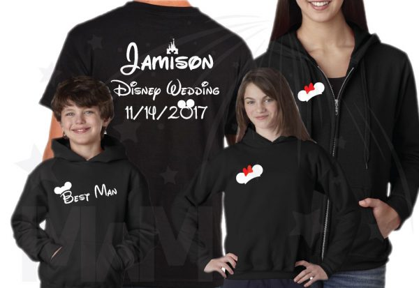 Disney Jamison Family Wedding Shirts, Bride, Groom, Father of The Groom, Mother of the Bride, Sister of the Bride, etc, Custom Order, Light Blue 25 Tshirts