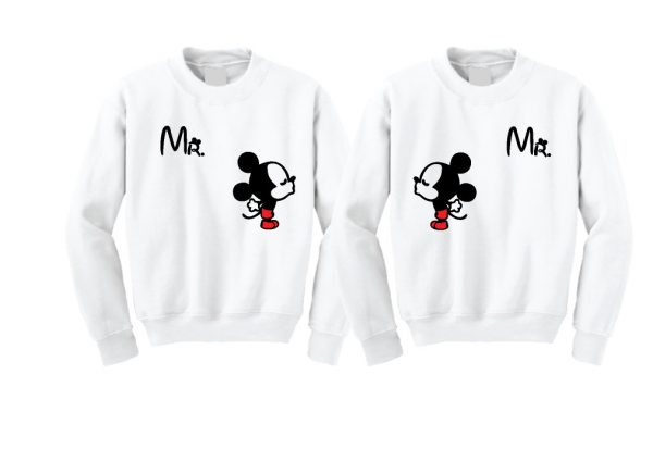 LGBT Gay Matching Mr Mickey Mouse Shirts I'm His Prince He's My Prince married with mikey mwm white seaters