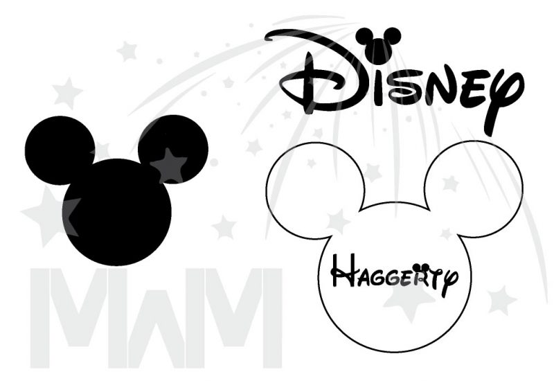 Matching Family Shirts, Mickey Mouse Head Logo, Disney Shirts With Custom Names married with mickey