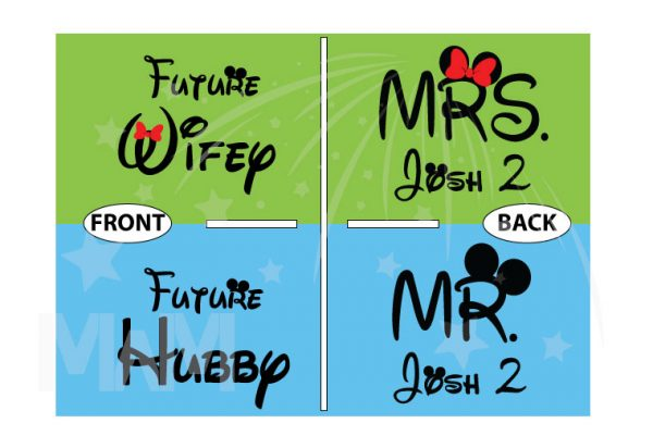 Future Wifey Future Hubby Mr and Mrs Matching Shirts married with mickey mwm