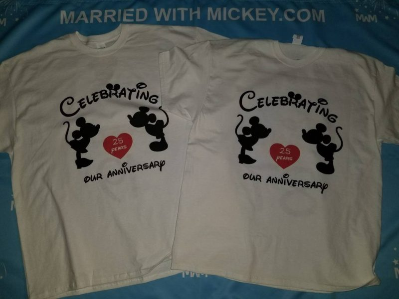Disney Cute Matching Shirts Celebrating Our Anniversary Together Since (enter your year) Mickey Minnie Mouse Kissing