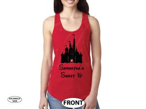 Future Wifey Disney Design, Mrs Ladies Shirt married with mickey red tank top