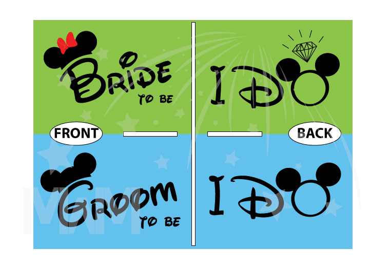Bride to be, Groom to be, I Do Worl'd Cutest Matching Couple Shirts married with mickey mwm