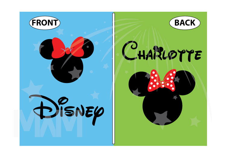 Disney Minnie Mouse Red Polka Dots With Custom Name, Cute Bow Shirt married with mickey