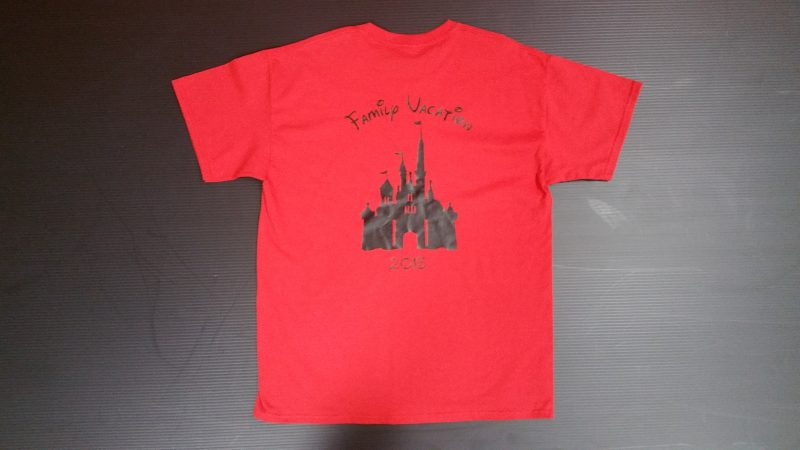 Red Mens Tshirt Grandma Minnie Mouse Head With Cute Bow Family Vacation Cinderella Castle 2015 Married With Mickey