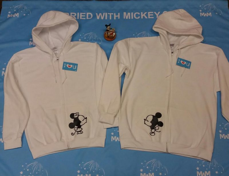 Disney Mr Mrs Matching Couple Shirts With Mickey Minnie Mouse Kissing MWM Married With Mickey