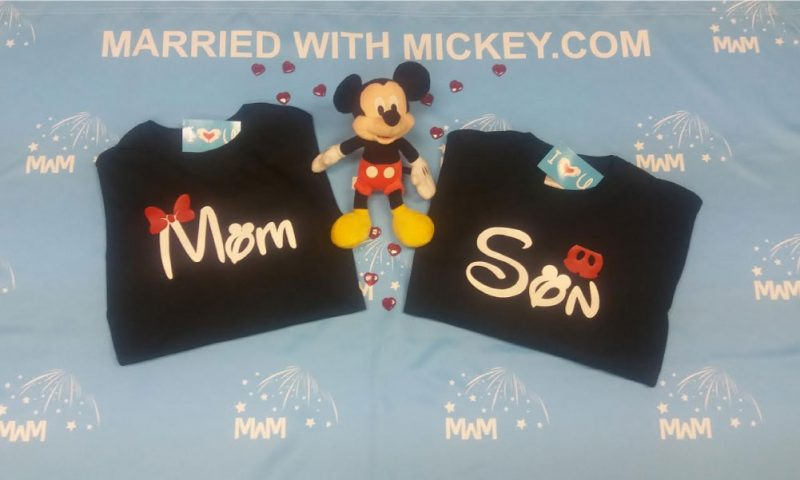 Mom Son Family Matching Shirts Disney Cinderella Castle married with mickey mwm