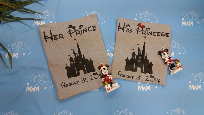 Soulmate His Princess Her Prince Disney Castle Custom Wedding Date married with mickey mwm