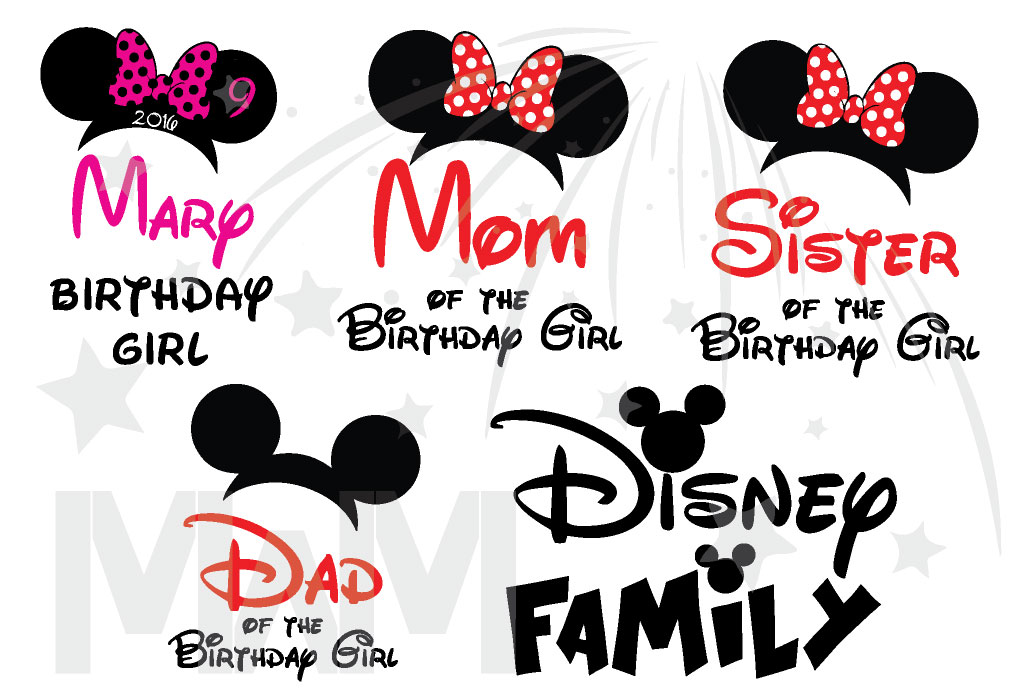 Disney Family Shirts Birthday Girl Boy Shirt With Name And Age Mom Dad Sister Of Married Mickey