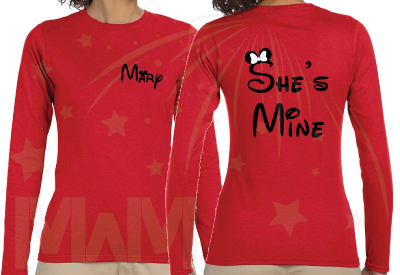 Disney Vacation Matching LGBT Family Shirts, Lesbian Cute Parents I'm Hers She's Mine I'm Theirs (3 and more shirts)
