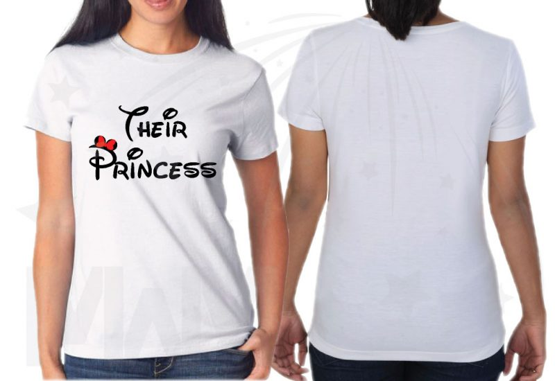 Disney Vacation Matching Lesbian Family Shirts, LGBT Parents I'm Her Princess She's My Princess Their Princess (3 and more shirts) married with mickey mwm