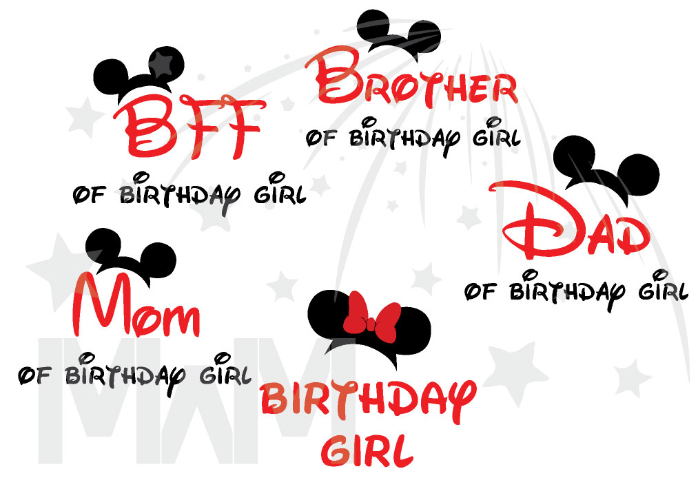2ea1e306b Matching Family Shirts For Birthday Party With Mickey Minnie Mouse Heads Mom  Of Birthday Girl (