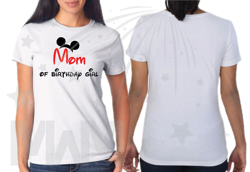 Matching Family Shirts For Birthday Party With Mickey Minnie Mouse Heads Mom Of Girl Boy Brother Etc Get As Many You