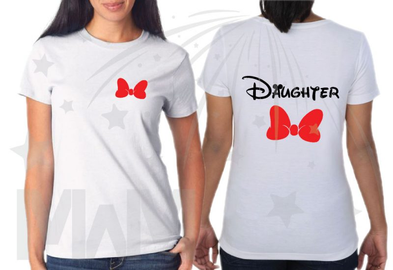 Disney Family Shirts, 3 and more shirts, enter as many as you want, Mom Dad Son Daughter Grandma Grandpa Little Sis Little Bro Minnie Mouse Cute Red Bow Mickey Mouse Cool Pants married with mickey mwm