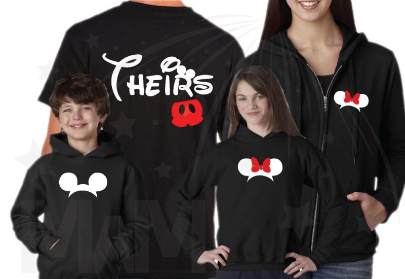Matching Family Vaction Shirts His Hers Theirs Minnie Mouse Cute Red Bow Mickey Mouse Head Pants married with mickey mwm