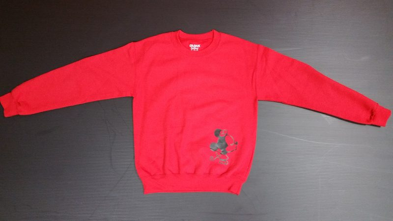 Red Sweater Minnie Mouse Kissing Mrs Ears Married With Mickey