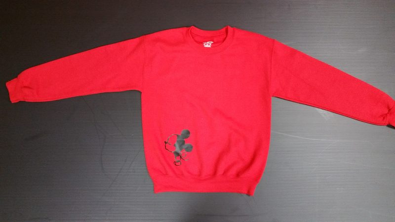Red Sweater Mickey Mouse Kissing Mr Ears Married With Mickey
