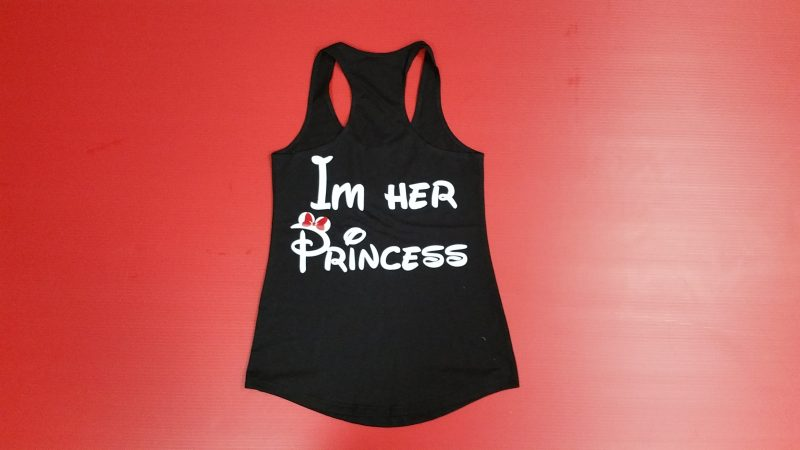 Black Ladies Tank Top LGBT Lesbian Shirt Im Her Princess Minnie Mouse Red Bow Married With Mickey