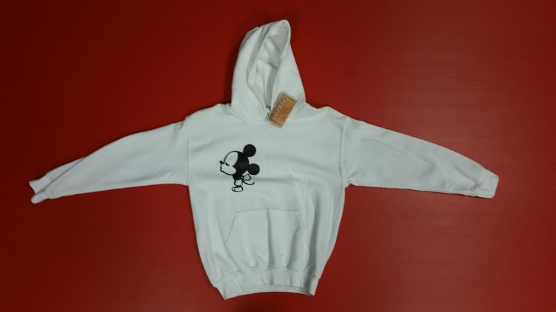 White Pullover Sweater Mickey Mouse Kiss Mr With Ears Married WIth Mickey