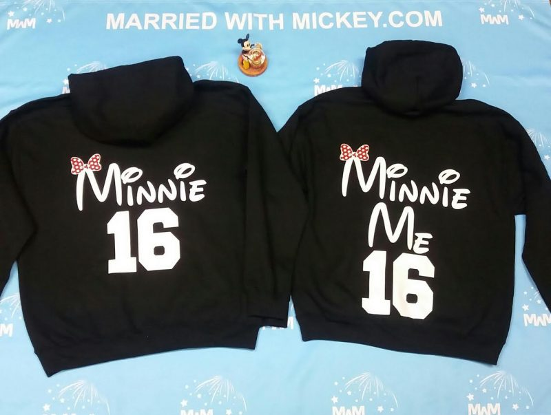 Mickey Mouse Hands In Heart Shape Minnie Minnie Me Family Matching Shirts 2016 Married With Mickey MWM